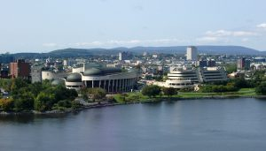 A view of Gatineau, Quebec from the Ottawa River